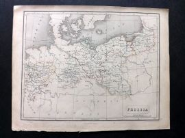 Chambers 1846 Antique Map. Prussia